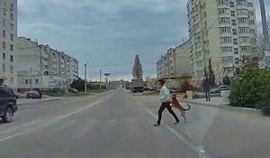 VIDEO Rus se zaustavio na pješačkom prijelazu pa snimio prečudnu scenu