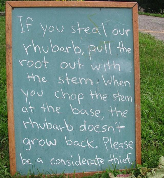 Netko je napisao dobronamjerne upute lopovu...