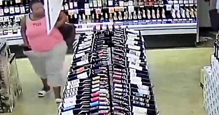Nadzorna kamera je snimila odvratnu scenu, pogledajte kako je žena krala u dućanu