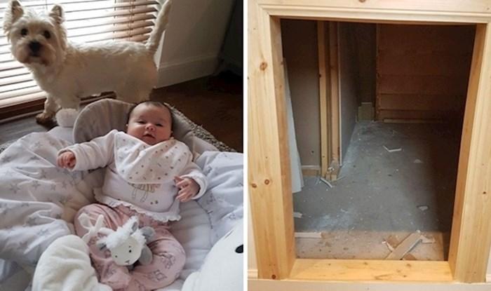 Obitelj je dobila bebu pa odlučila psu urediti vlastitu sobu ispod stepenica, rezultat će vas iznenaditi
