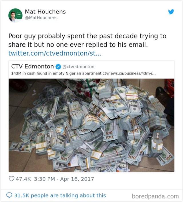 Sjećate li se one online prijevare u kojoj vam je afrički princ nudio novac? E pa čini se da lik stvarno postoji...