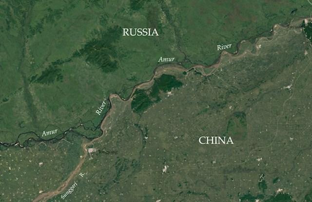 Gustoće naseljenosti na granici Rusije i Kine