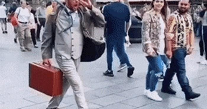 Netko je snimio uličnog izvođača koji je na genijalan način zbunio i zabavio prolaznike