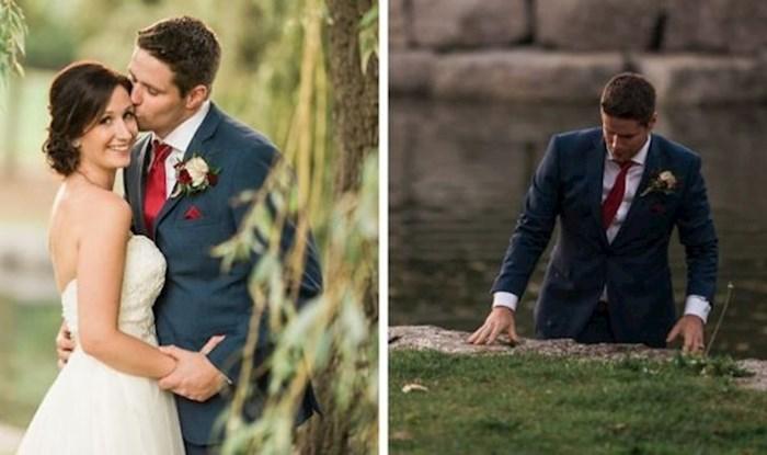 Dok su pozirali za vjenčane fotografije, mladoženja je nestao i napravio nešto što će zauvijek pamtiti