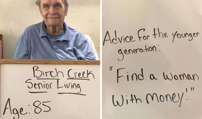 U domu za starije osobe slikali su životne savjete bakica i djedova, neki od njih će vas nasmijati