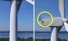 Lik je dronom snimao okolicu, a onda je na vrhu vjetrenjače ugledao neočekivan detalj