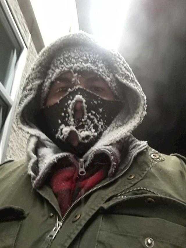 """""""Došao sam prerano na posao, nitko nije bio unutra da mi otvori vrata. Vani je bilo -41°C."""""""