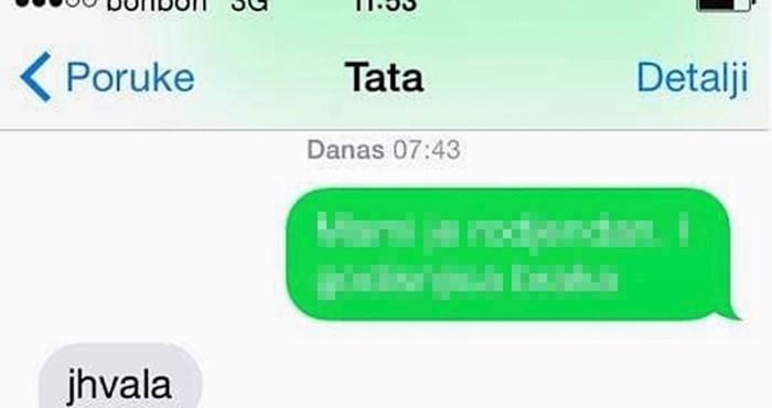 Tata je od djeteta rano ujutro dobio poruku koja ga je spasila