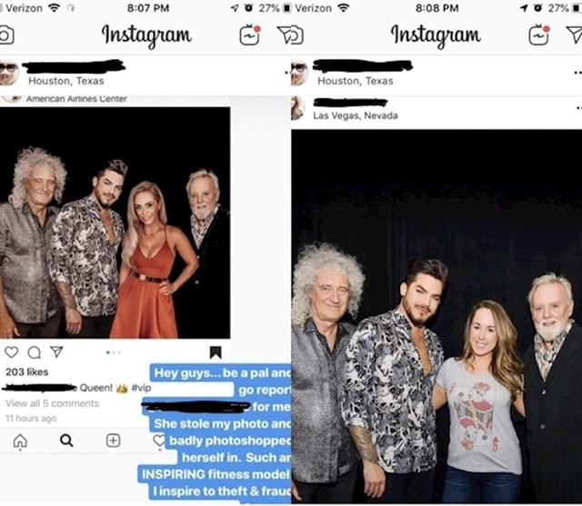Ukrala je tuđu fotku s Queen i dodala sebe, no netko ju je skužio...