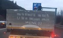 Balkanac je u Njemačkoj ostavio natpis na kamionu pa postao hit na internetu