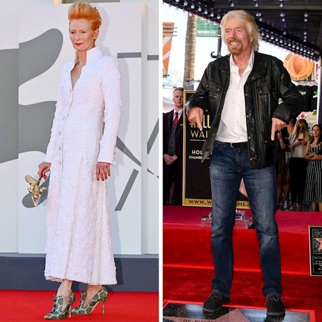 Tilda Swinton i Richard Branson - 179 cm