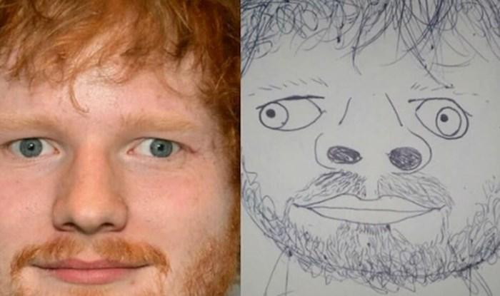 """""""Umjetnik"""" crta strašno loše portrete poznatih osoba, no ljudi ih obožavaju"""