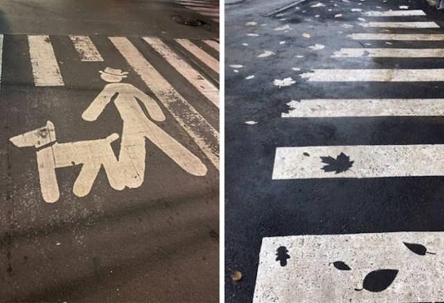 Tko kaže da se pješački prijelazi ne mogu pretvoriti u malo umjetničko djelo? Lijevi je u Meksiku, a desni u Rusiji.
