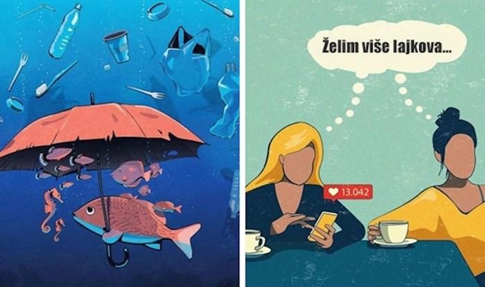 20 ironičnih ilustracija koje pokazuju kako današnji svijet zapravo funkcionira