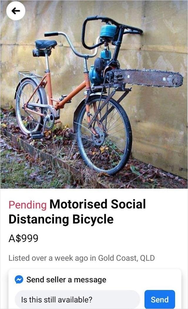 Bicikl za socijalno distanciranje