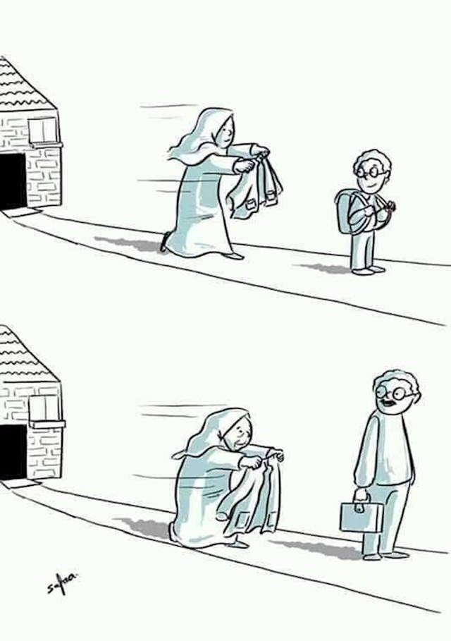 I  za kraj jedna dirljiva ilustracija... Neke stvari se nikad ne mijenjaju. ❤️