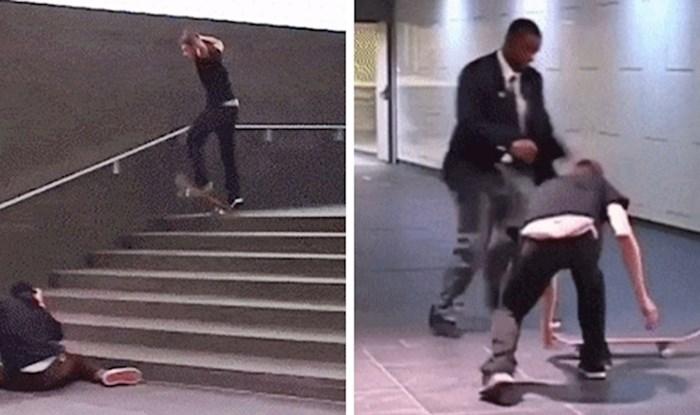 Mladići su snimali trikove sa skateboardom, a onda ih je živčani prolaznik šokirao reakcijom