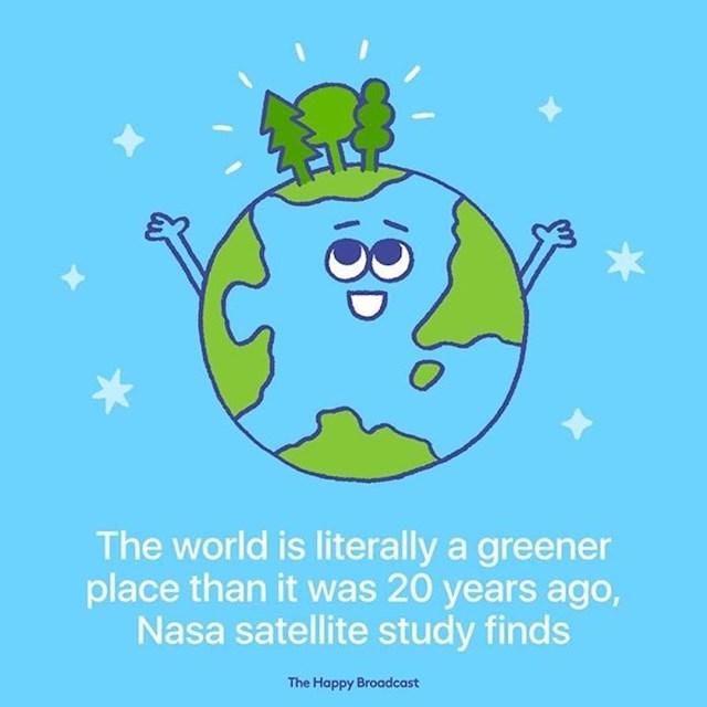 NASA je objavila da je naš planet doslovno zeleniji nego što je bio prije 20 godina.