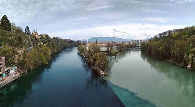 Mjesto na kojem se dvije rijeke spajaju, ali ne miješaju vodu