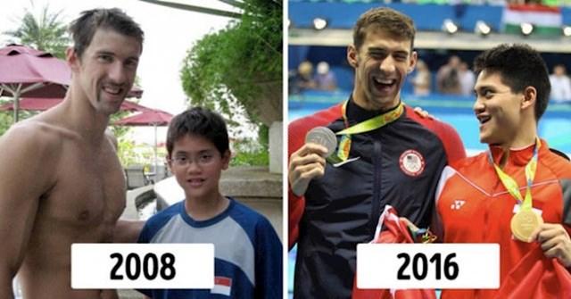 Joseph Schooling je upoznao svog idola, plivača Michaela Phelpsa, kad je imao 13 godina. Osam godina kasnije ga je pobijedio na Olimpijskim igrama.