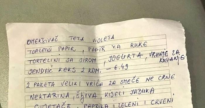 Kada žena pošalje muškarca u dućan: Slikao je listu koju mu je dala, odmah je htio odustati