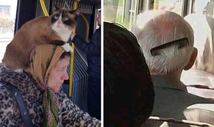 Čudaci na putu: 40 najsmješnijih prizora koje su ljudi slikali u javnom gradskom prijevozu