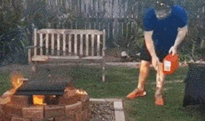 Pogledajte što se dogodilo kad su smotanom liku dali da pripremi roštilj