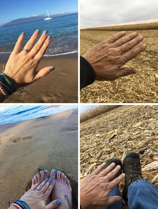 Kći je u grupnom chatu poslala fotke s njenog putovanja na Havaje. Tata je odgovorio svojom verzijom.