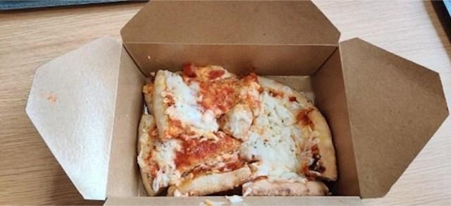 """""""Pogledajte kako su mi dostavili pizzu."""""""
