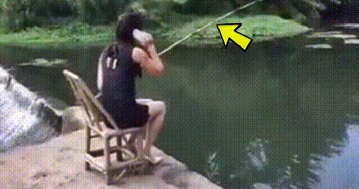 Lik je snimio zbog čega žena nikad više neće s njim ići u ribolov