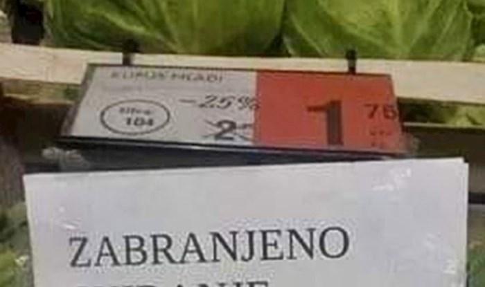Kupce je na odjeću voća i povrća dočekala obavijest naživciranih radnika supermarketa