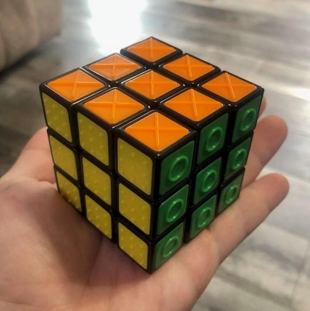Rubikova kocka za slijepe osobe
