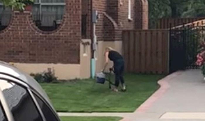 VIDEO Muškarac je snimio susjedu kako radi nešto što nitko nije mogao objasniti