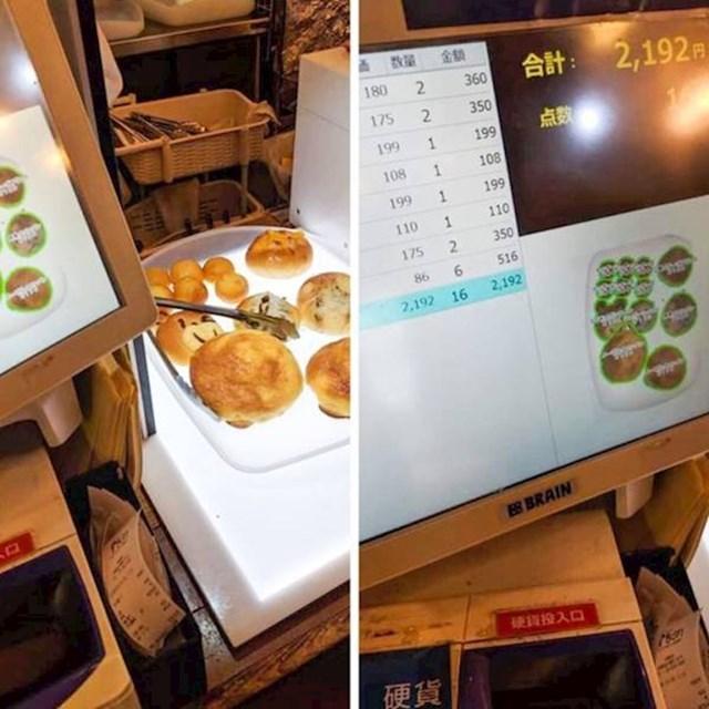 U Japanu postoje samoposlužne pekare čije blagajne same prepoznaju što ste uzeli.