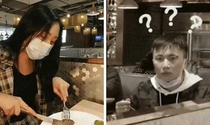 Djevojka je zgrozila drugog gosta restorana, pogledajte što je radila