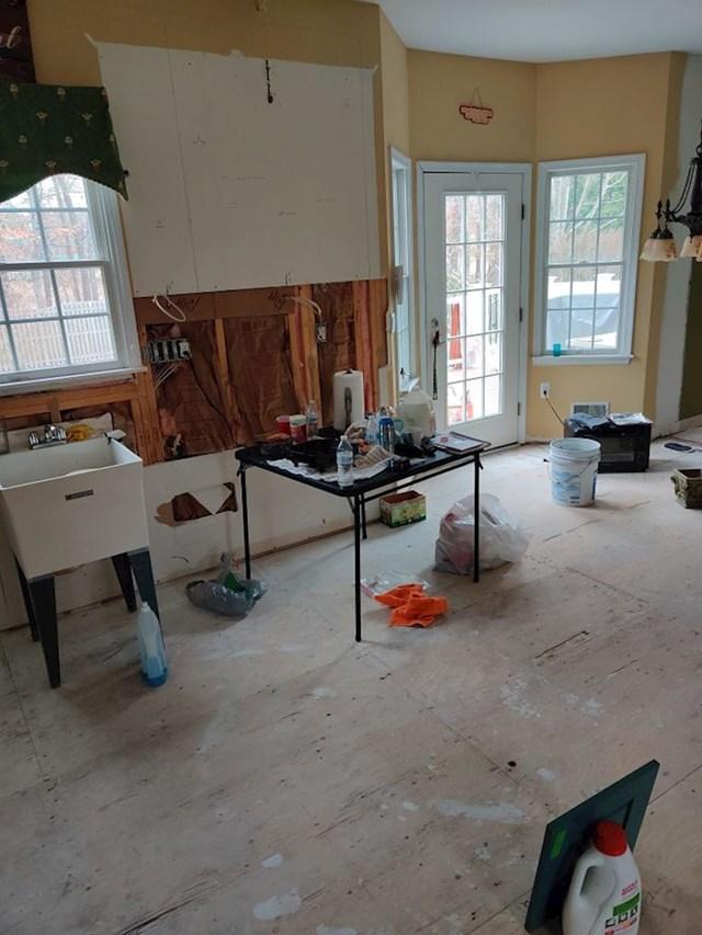 Počeli su s renoviranjem kuhinje prije nego što je stigao koronavirus. Sad uglavnom koriste toster i umivaonik iz kupaonice.