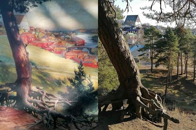 """""""Lijevo je slika iz 1892. godine, a desno isto to mjesto koje sam našla 2020. godine."""""""