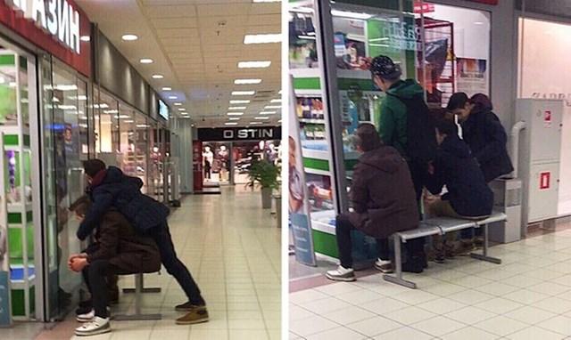 """""""Jednog dana sam u shopping centru vidjela grupu mladića kako uzimaju klupu i nose je na drugo mjesto. Pratila sam ih i shvatila da su htjeli sjediti i gledati životinjice iz trgovine s kućnim ljubimcima."""""""