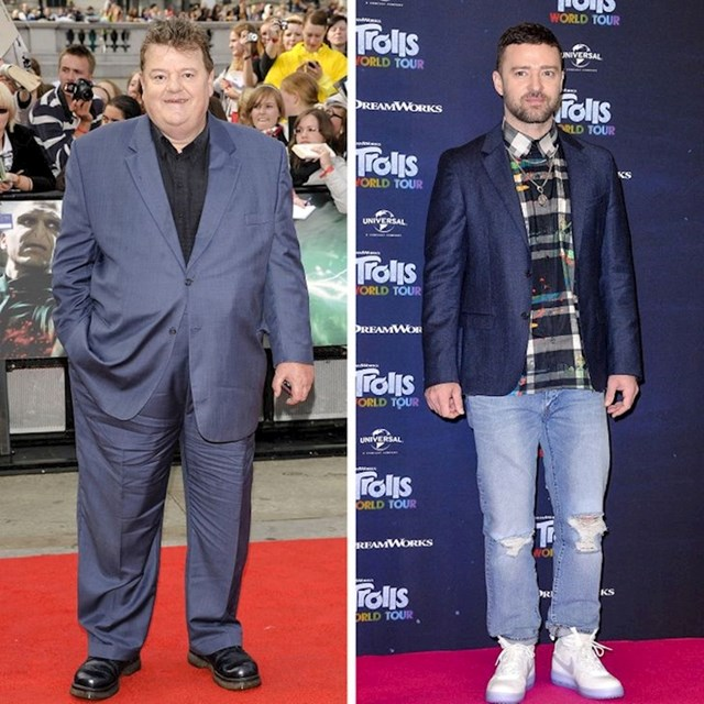 Robbie Coltrane i Justin Timberlake - 185 cm