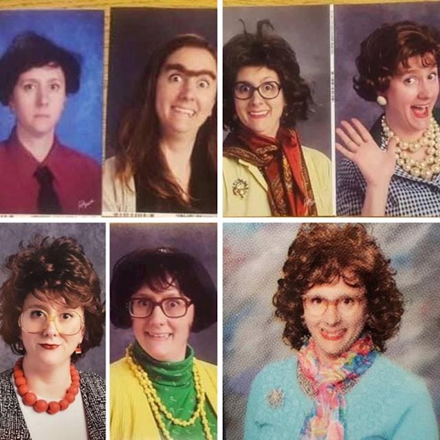 """""""Naša razrednica svake godine smisli nešto zanimljivo kad se slikamo za školski godišnjak."""""""