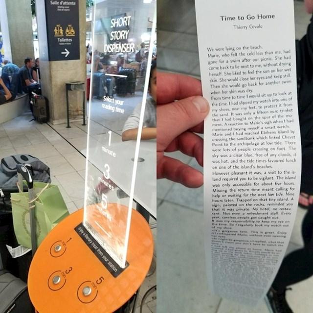 Ova zračna luka ima automat koji ispisuje kratke pričice koje ljudi mogu čitati dok čekaju svoj let.