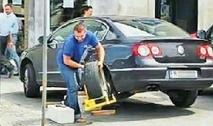 Vozača je na autu dočekalo neugodno iznenađenje, svojim je rješenjem nasmijao internet