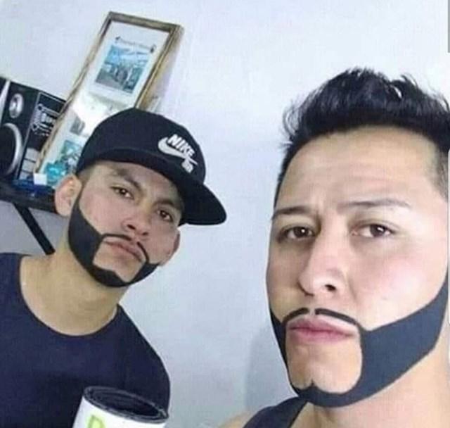 Ako žene crtaju obrve, onda muškarci mogu crtati brade.