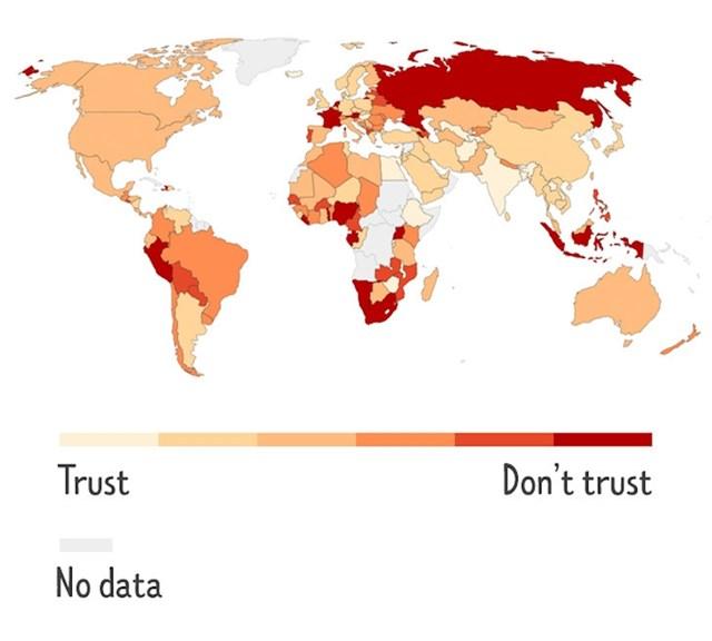Zemlje gdje ljudi ne vjeruju cijepljenju