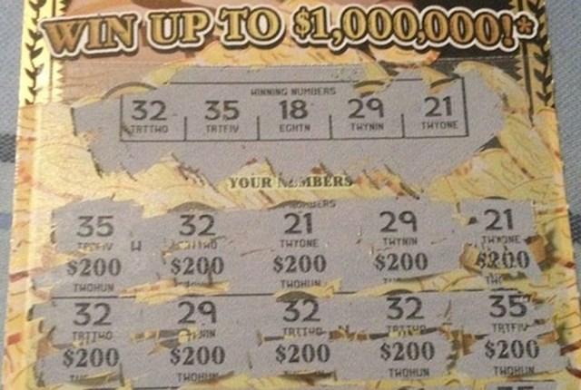 """""""Moja žena je danas dobila 4000 dolara na lutriji, sva polja su bila dobitna!"""""""