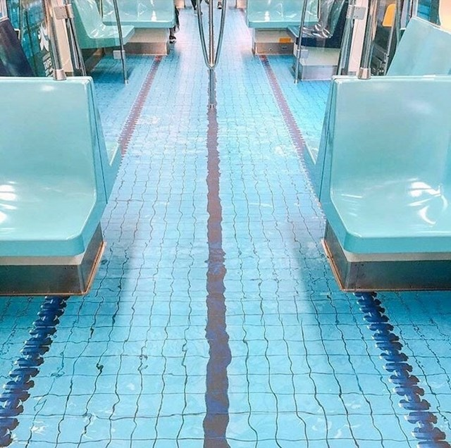 Ova podzemna željeznica u Tajvanu ima pod zbog kojeg bi ljudi najradije počeli plivati po njemu.