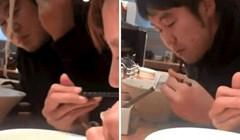 Nisu mogli vjerovati svojim očima kad su vidjeli kako lik jede, pogledajte što su snimili za stolom