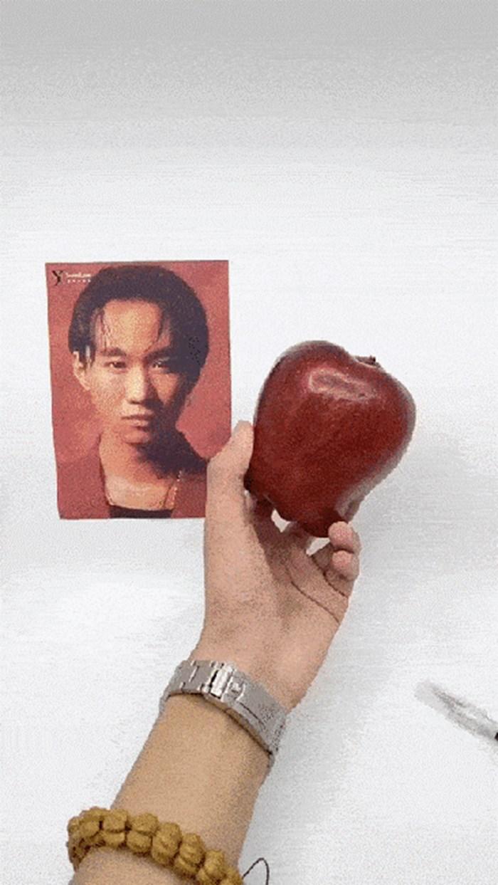 Čudan talent: Uzeo je fotografiju, jabuku, nožić i izveo nemoguće