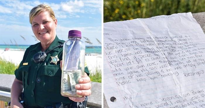 Obitelj je pepeo voljenog sina stavila u bocu i bacila u more, ova žena ju je našla na plaži