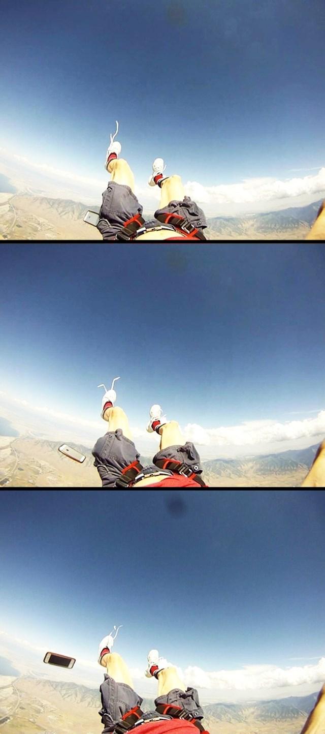 Uživao je u pogledu na nebo i planine, a onda mu je mobitel izletio iz džepa.